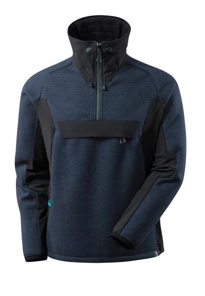 MASCOT® ADVANCED - Schwarzblau/Schwarz - Strickjacke mit kurzem Reißverschluss und Membran