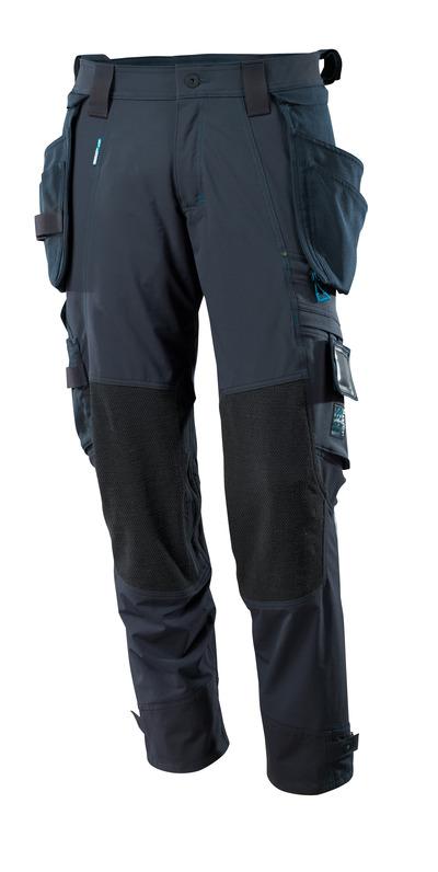 MASCOT® ADVANCED - Schwarzblau - Hose mit Dyneema® Knie- und abnehmbaren Hängetaschen, Vier-Wege-Stretchstoff, geringes Gewicht