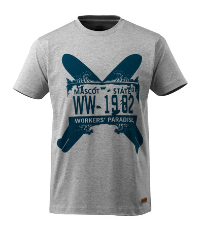 MASCOT® ADVANCED - Grau-meliert - T-Shirt mit zwei Surfboards, moderne Passform