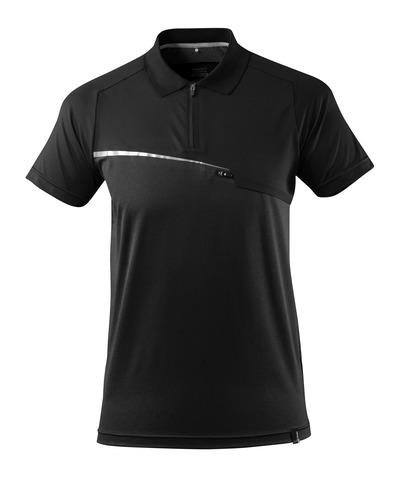 MASCOT® ADVANCED - Schwarz - Polo-Shirt mit Brusttasche, feuchtigkeitstransportierend, moderne Passform