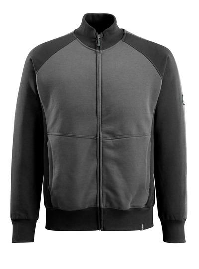MASCOT® Amberg - Dunkelanthrazit/Schwarz - Sweatshirt mit Reißverschluss