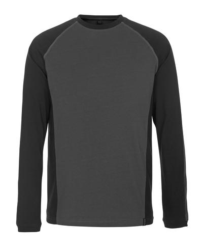 MASCOT® Bielefeld - Dunkelanthrazit/Schwarz* - T-Shirt, Langarm, geringes Gewicht