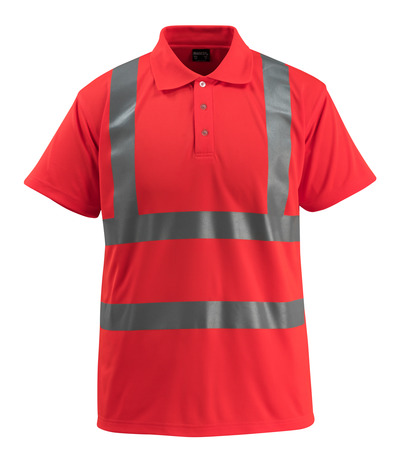 MASCOT® Bowen - hi-vis Rot - Polo-Shirt, großzügige Passform, Klasse 2