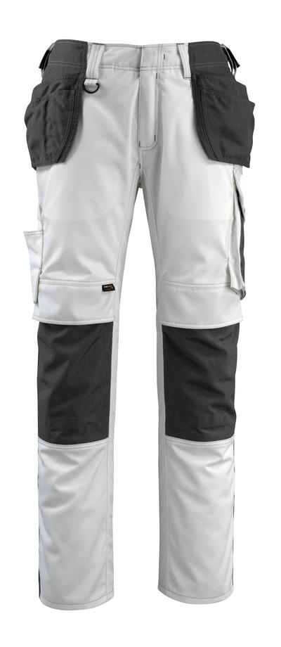 MASCOT® Bremen - Weiß/Dunkelanthrazit - Handwerkerhose