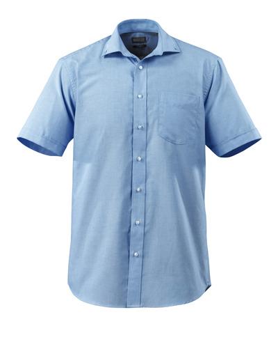 MASCOT® CROSSOVER - Hellblau - Hemd Oxford, großzügige Passform, kurze Ärmel.