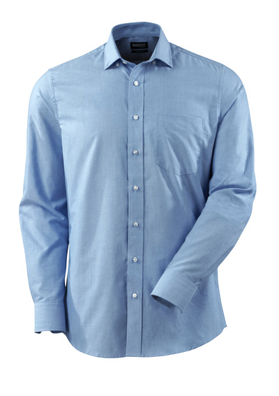 MASCOT® CROSSOVER - Hellblau - Hemd Oxford, moderne Passform, lange Ärmel.