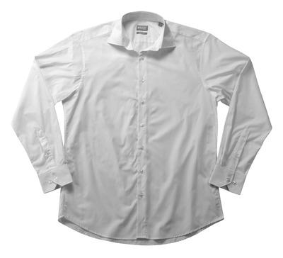 MASCOT® CROSSOVER - Weiß - Hemd Poplin, großzügige Passform, lange Ärmel.