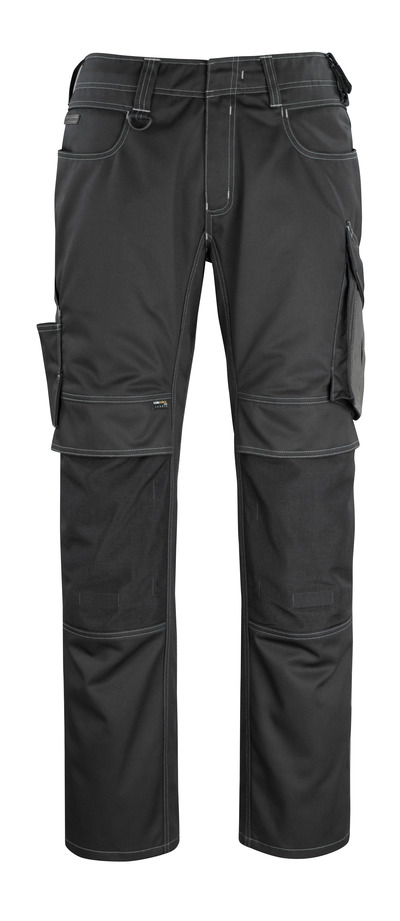 MASCOT® Erlangen - Schwarz/Dunkelanthrazit - Hose mit CORDURA® Knietaschen, hohe Strapazierfähigkeit
