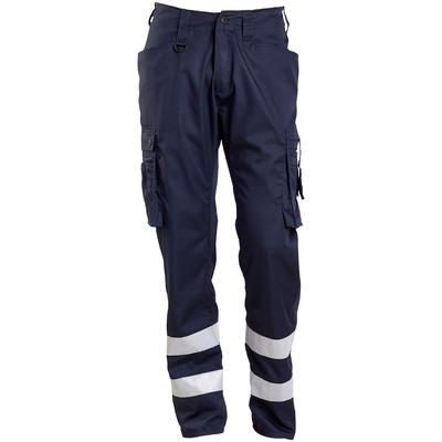 MASCOT® FRONTLINE - Schwarzblau - Hose mit Schenkeltaschen, Reflexstreifen, sehr geringes Gewicht