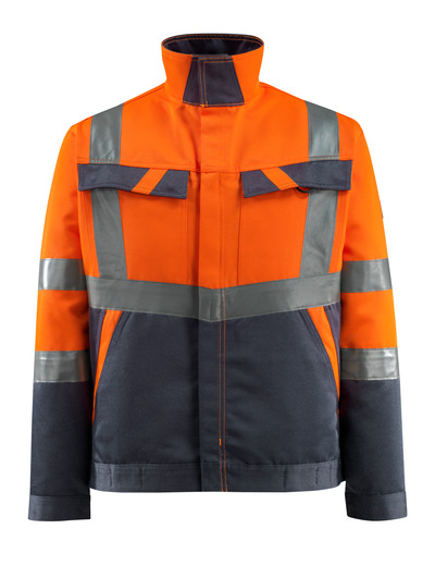 MASCOT® Forster - hi-vis Orange/Schwarzblau - Jacke, geringes Gewicht, Klasse 2