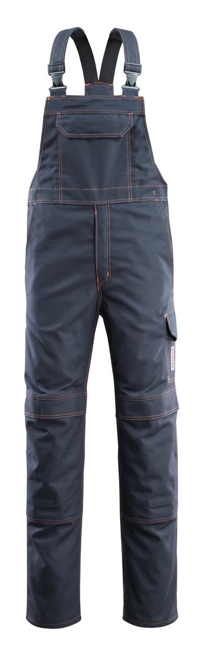 MASCOT® Freibourg - Schwarzblau - Latzhose mit Knietaschen, Multischutz