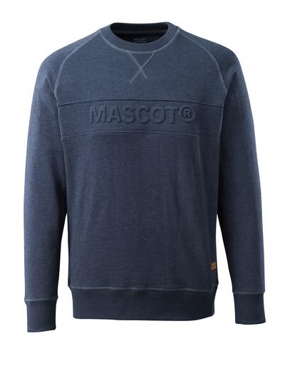 MASCOT® HARDWEAR - Gewaschener dunkelblauer Denim* - Sweatshirt mit MASCOT Prägung, moderne Passform