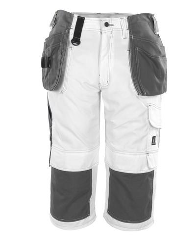 MASCOT® Jaca - Weiß* - Dreiviertel-Hose mit Knie- und Hängetaschen