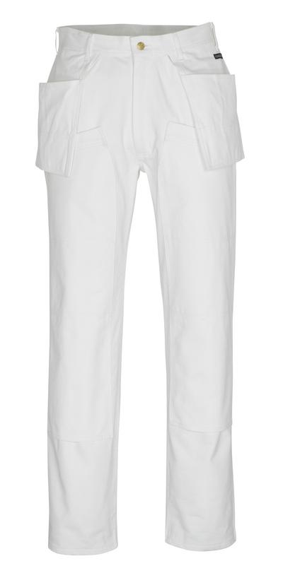 MASCOT® Jackson - Weiß* - Hose mit Knie- und Hängetaschen