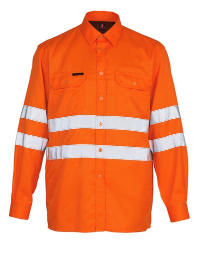 MASCOT® Jona - hi-vis Orange - Hemd, großzügige Passform, Klasse 3