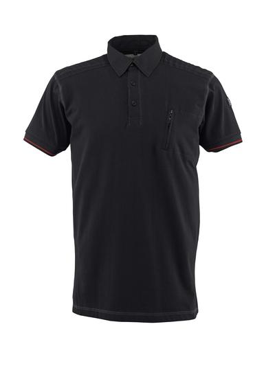 MASCOT® Kreta - Schwarz - Polo-Shirt mit Brusttasche, moderne Passform
