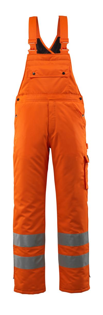 MASCOT® Lech - hi-vis Orange - Winterlatzhose mit Steppfutter, wasserdichtes MASCOTEX®, Klasse 2