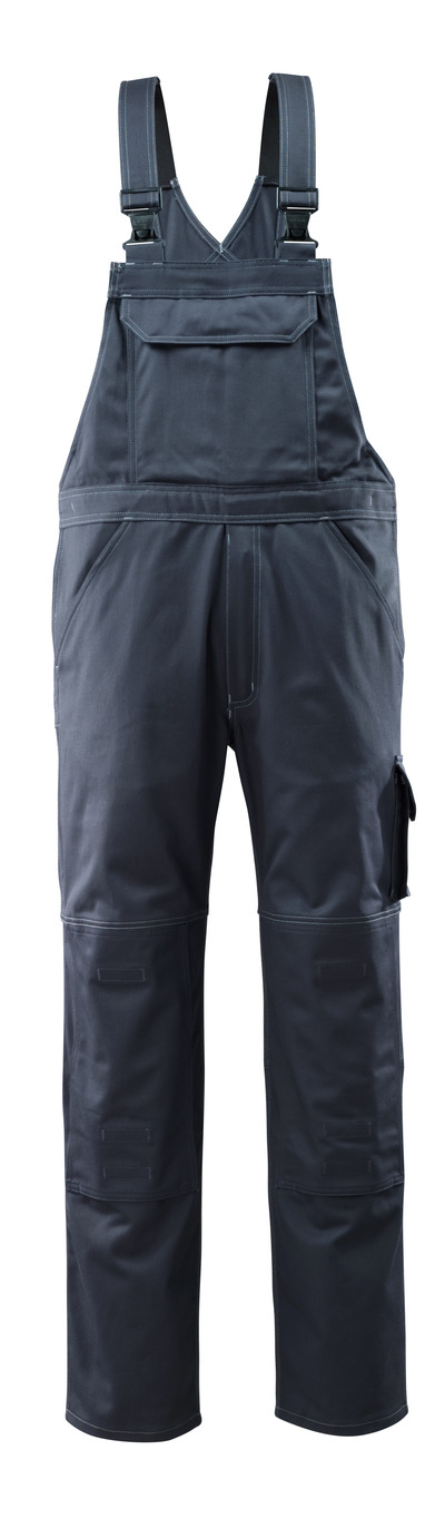 MASCOT® Lowell - Schwarzblau - Latzhose mit Knietaschen, Baumwolle