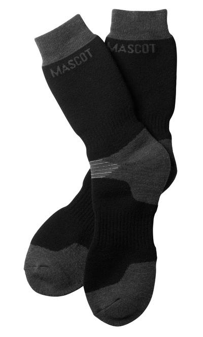 MASCOT® Lubango - Schwarz/Dunkelanthrazit - Socken, extra lang, feuchtigkeitstransportierend