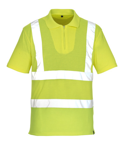 MASCOT® Melville - hi-vis Gelb* - Polo-Shirt mit Reißverschluss, großzügige Passform, Klasse 2/2