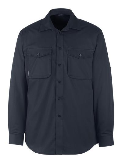 MASCOT® Mesa - Schwarzblau - Hemd, moderne Passform