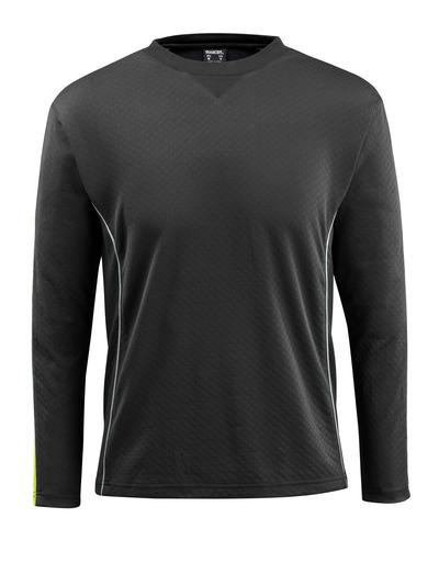 MASCOT® Montilla - Schwarz/hi-vis Gelb - T-Shirt mit Hi-Vis Kontrast, Langarm, moderne Passform