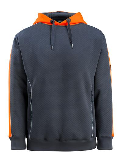 MASCOT® Motril - Schwarzblau/hi-vis Orange - Kapuzensweatshirt