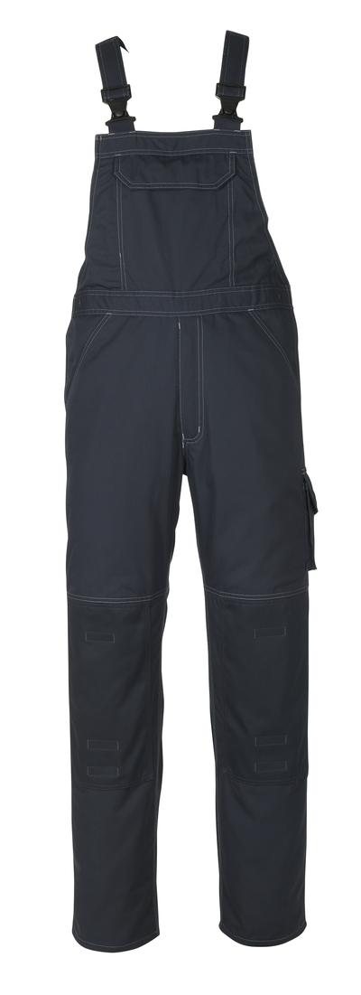 MASCOT® Newark - Schwarzblau - Latzhose mit Knietaschen, geringes Gewicht