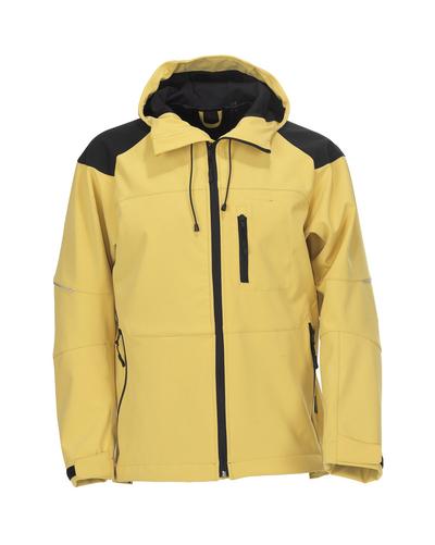 MASCOT® Nisa - Verkehrsgelb/Schwarz* - Soft Shell Jacke mit Kapuze, wasserabweisend