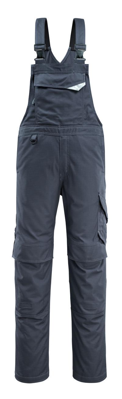 MASCOT® Oron - Schwarzblau - Latzhose mit Knietaschen, schmutzabweisend, Multischutz