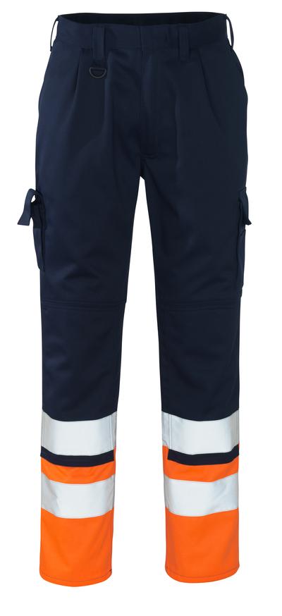 MASCOT® Patos - Marine/hi-vis Orange - Hose mit Knietaschen, Klasse 1