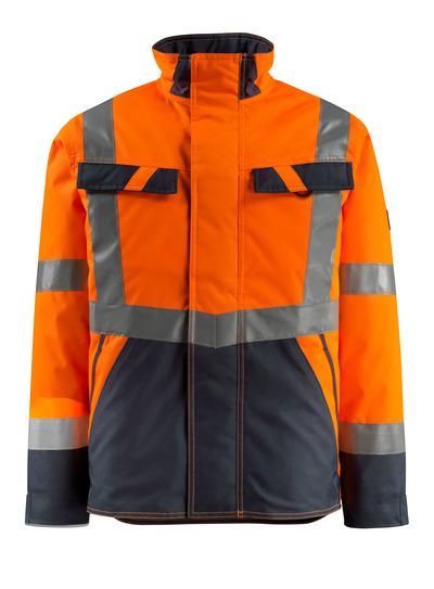 MASCOT® Penrith - hi-vis Orange/Schwarzblau - Winterjacke mit Steppfutter, wasserabweisend, Klasse 3