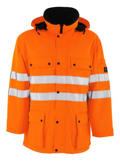 MASCOT® Quebec - hi-vis Orange - Parka mit Steppfutter, wasserabweisend, Klasse 3/2