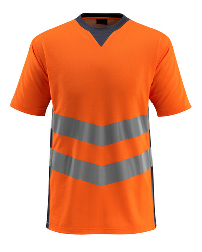 MASCOT® Sandwell - hi-vis Orange/Schwarzblau - T-Shirt, moderne Passform, Klasse 2