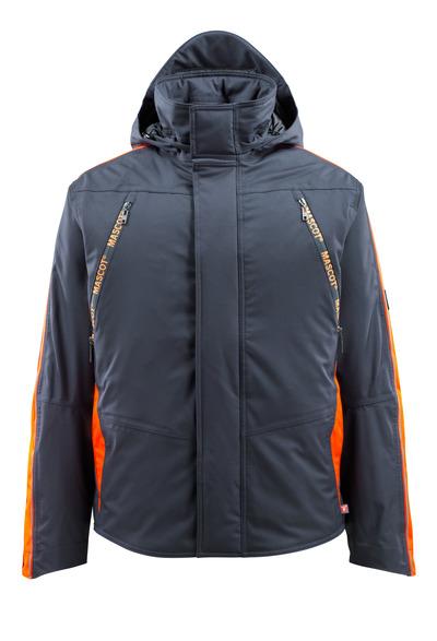 MASCOT® Tolosa - Schwarzblau/hi-vis Orange - Winterjacke mit Hi-Vis Kontrast, wasserdicht, hohe Isolierungsfähigkeit