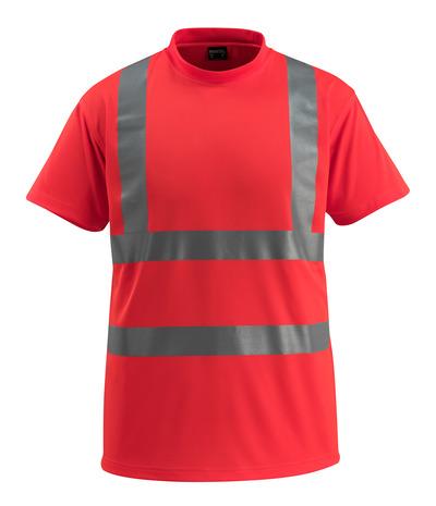 MASCOT® Townsville - hi-vis Rot - T-Shirt, großzügige Passform, Klasse 2