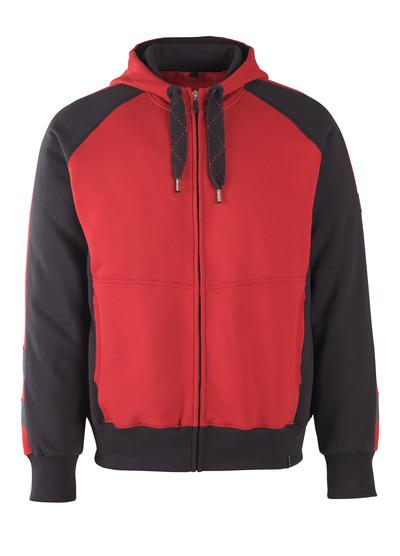 MASCOT® Wiesbaden - Rot/Schwarz* - Kapuzensweatshirt mit Reißverschluss
