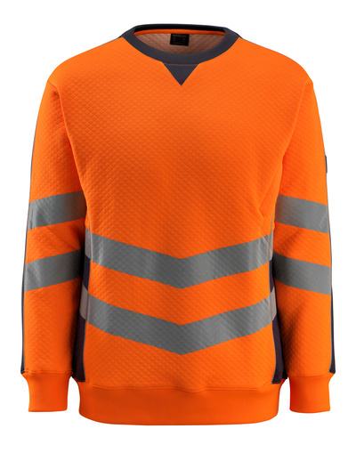 MASCOT® Wigton - hi-vis Orange/Schwarzblau - Sweatshirt, moderne Passform, Klasse 3